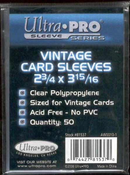 Ultra Pro Vintage Card Sleeves- 10 Packs of 50 Sleeves(500 Total Sleeves)