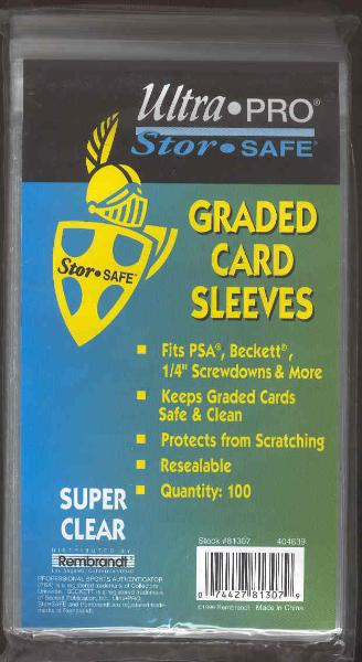 Ultra Pro Resealable Graded Card Sleeves- 5 Packs of 100 Sleeves