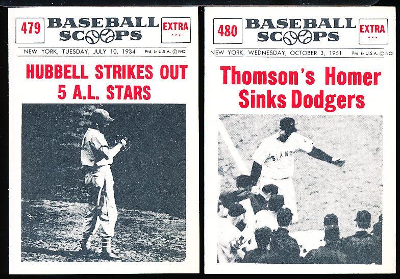 Lot Detail 1961 Nu Card Baseball Scoops Reprint Set Of 80