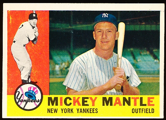 1960 Topps Baseball- #350 Mickey Mantle, Yankees