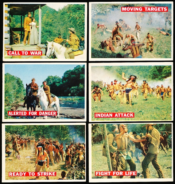 "1956 Topps ""Davy Crockett"" Series #1 (Orange Backs)- 37 Diff."