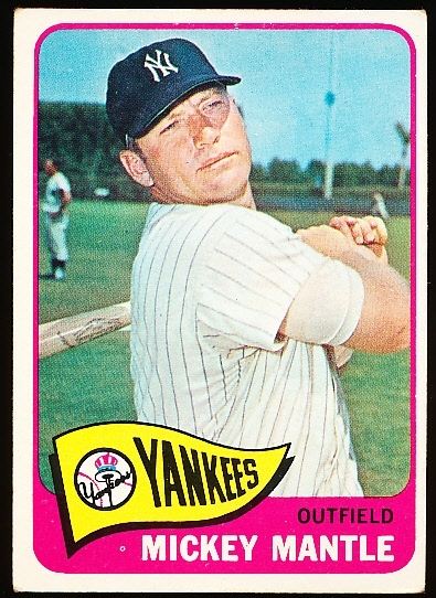 1965 Topps Baseball- #350 Mickey Mantle, Yankees