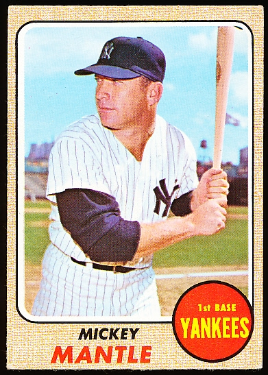 1968 Topps Bb- #280 Mickey Mantle, Yankees