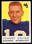1959 Topps Fb- #1 John Unitas, Colts