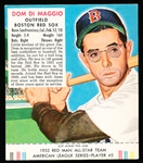 1952 Red Man with Tab- AL #5 Dom DiMaggio, Red Sox