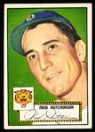 1952 Topps Baseball- #126 Fred Hutchinson, Tigers