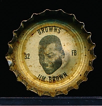 1964 Coke Caps Cleveland Browns Ftbl. #32 Jim Brown