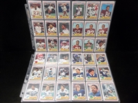 1984 Topps USFL Ftbl.- 128 Diff. Cards in Pages