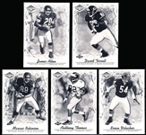 "2001 Pacific Impressions Ftbl. ""Shadow""- 5 Diff. Chicago Bears- #/25!"