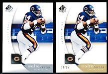 2005 SP Authentic Ftbl. #15 Walter Payton- 2 Diff. Cards