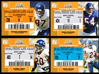 "2007 Topps TX Exclusive Ftbl. ""Super Bowl XLI Ticket Stub""- 4 Diff. Chicago Bears"