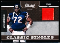 "2010 Panini Classics Ftbl. ""Classic Singles Jersey"" #25 William Perry, Bears- #47/50"