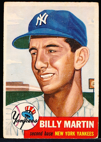 1953 Topps Bb- #86 Billy Martin, Yankees