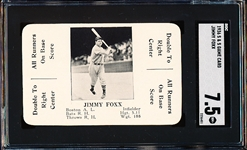 1936 S&S Game Card- Jimmy Foxx- SGC 7.5 (NM+)