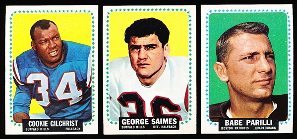 1964 Topps Ftbl.- 20 Diff. Cards