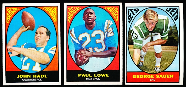 1967 Topps Ftbl.- 20 Diff. Cards