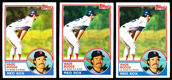 1983 Topps Bsbl. #498 Wade Boggs RC- 5 Cards