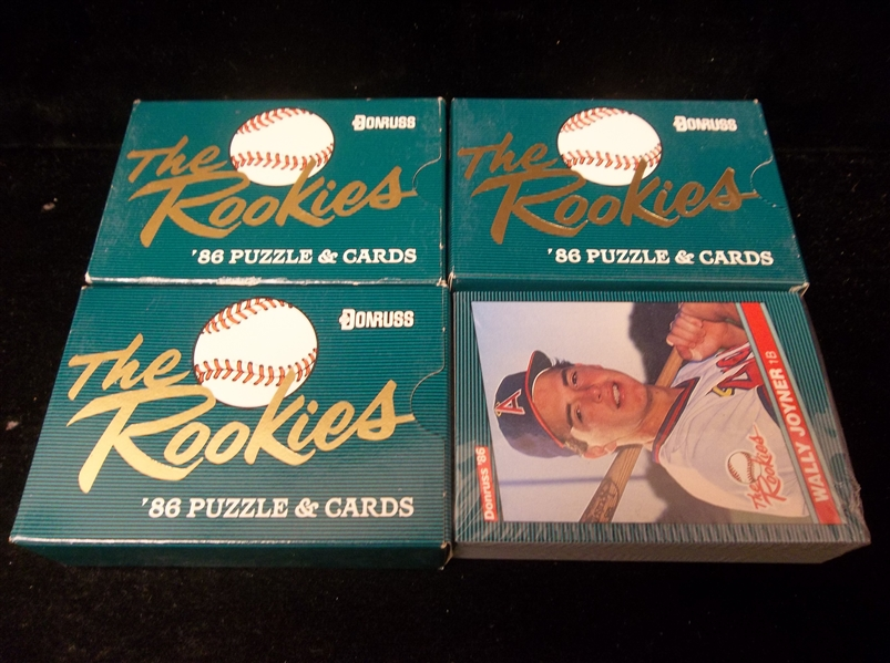 "1986 Donruss ""The Rookies""- 3 Sets"
