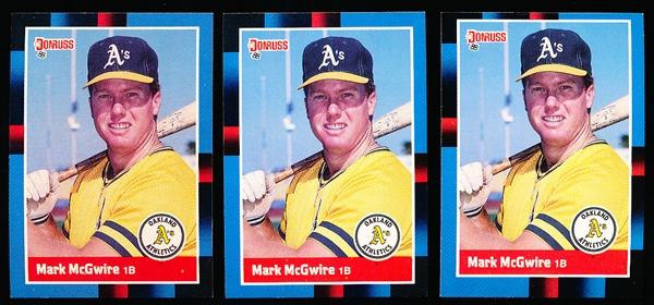 1988 Donruss Bsbl. #256 Mark McGwire- 175 Cards