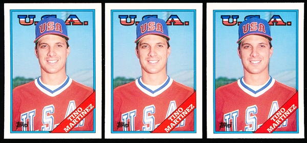 1988 Topps Traded Bsbl. #66T Tino Martinez XRC, Team USA- 140 Cards