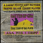 "1934-36 Batter Up Baseball 1 Cent Wrapper (National Chicle 1935 Date)- ""Batter Up Gum with Stand Up Ball Player"""