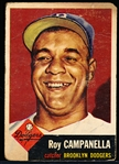 1953 Topps Baseball- #27 Roy Campanella, Dodgers