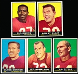 1961 Topps Football- 49ers- 5 Diff