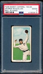 1909-11 T206 Bb- McQuillan, Phila Nat- Ball in Hand Variation- Sweet Caporal 150 Back (factory 25)- PSA Good 2