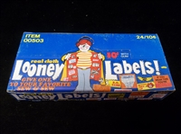 "1974 Fleer ""Looney Labels""- One Unopened Wax Box"