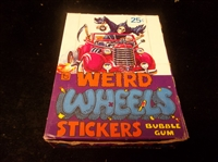 "1980 Topps ""Weird Wheels Stickers""- One Unopened Wax Box"