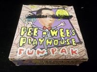 "1988 Topps ""Pee-Wee's Playhouse Fun Pak- 35 Unopened Wax Packs in Original Display Box"