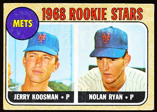1968 Topps Baseball- #177 Nolan Ryan Rookie