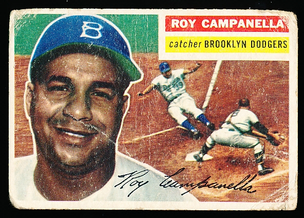 1956 Topps Baseball- #101 Roy Campanella, Dodgers- Gray Back