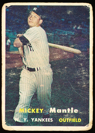 1957 Topps Baseball- #95 Mickey Mantle, Yankees