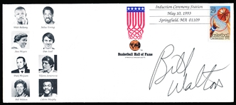 1993 Basketball Hall of Fame Induction Cachet- Autographed by Bill Walton