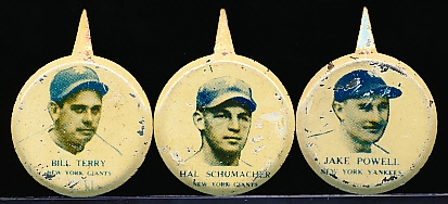 1938 Our National Game Baseball Pins- 7 Pins