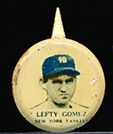 1938 Our National Game Baseball Pins- Lefty Gomez- 3 pins