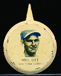 1938 Our National Game Baseball Pins- Mel Ott, NY Giants- 2 Pins