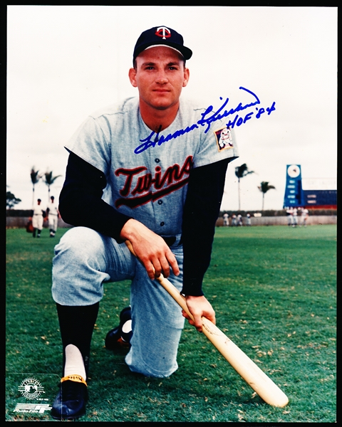 "Harmon Killebrew Autographed Color 8 x 10"" Twins Photo"