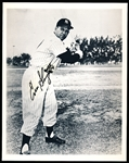 "Enos Slaughter Autographed N.Y. Yankees B & W (2nd Generation) 8 x 10"" Photo"