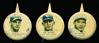 1938 Our National Game Baseball Pins- 3 Diff