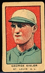 1922 W551 Strip Card- George Sisler, St. Louis AL