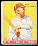 1933 Goudey Baseball- #89 Tris Speaker, Kansas City Blues