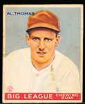 1933 Goudey Bb- #160 Al Thomas, Washington