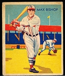 1934-36 Diamond Stars Bb- #6 Max Bishop, Red Sox