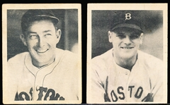 1939 Playball Baseball- 2 Diff Boston Red Sox