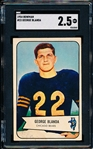 1954 Bowman Football- #23 George Blanda RC, Bears- SGC 2.5 (Good +)