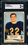 1954 Bowman Football- #23 George Blanda RC, Bears- SGC 2 (Good)