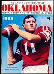 1968 University of Oklahoma College Ftbl. Media Guide