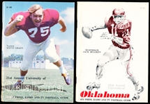 1970 and 1971 University of Oklahoma College Ftbl. Media Guides